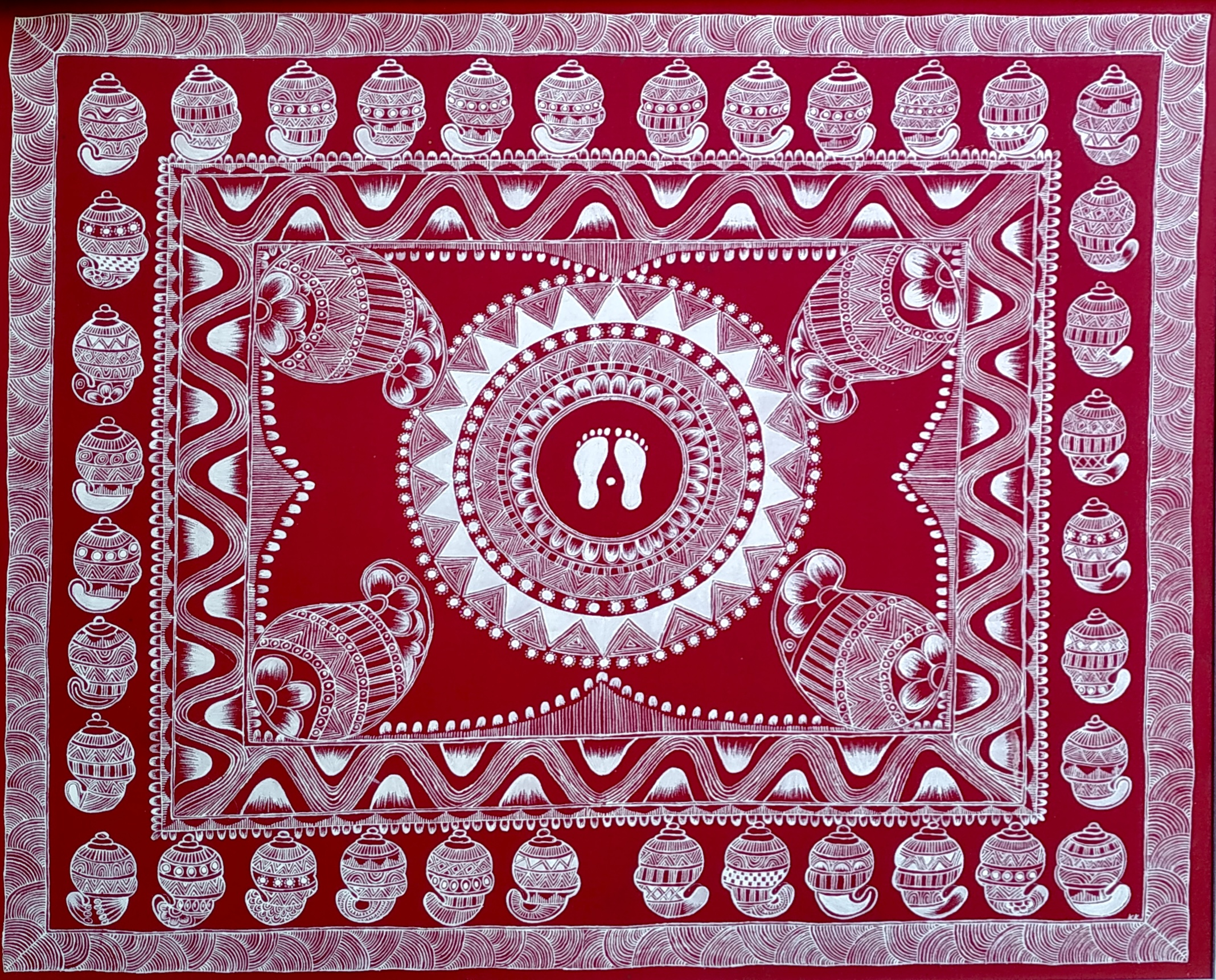 Laxmi Chowki Aipan Painting - Aipan Art